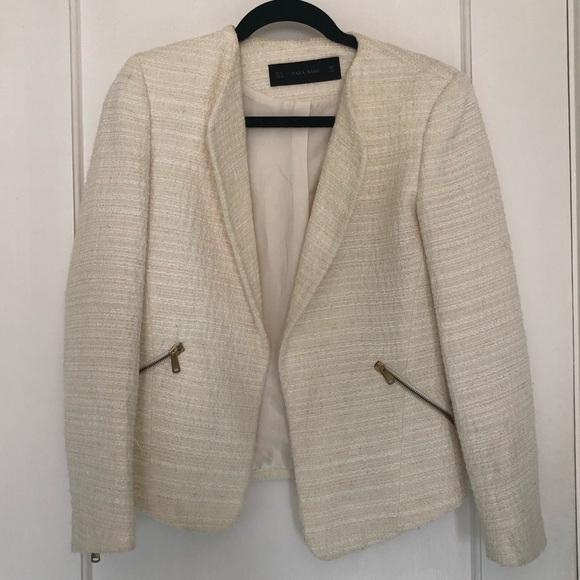 e50e9ede Zara Jackets & Coats | Cream Boucl Blazer | Poshmark